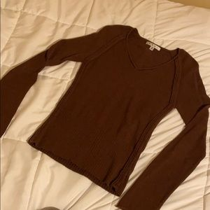 Lightweight brown sweater